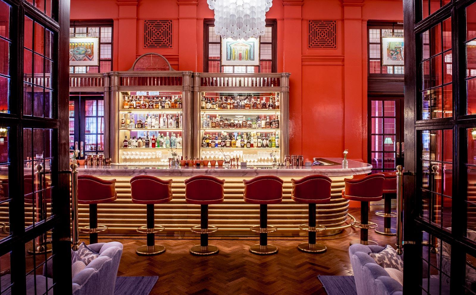 The bar at at the Coral Room and Dalloway Terrace