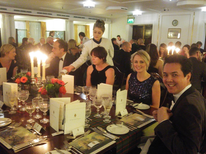 Paul Godbold celebrating Burns Night on the Royal Yacht Britannia