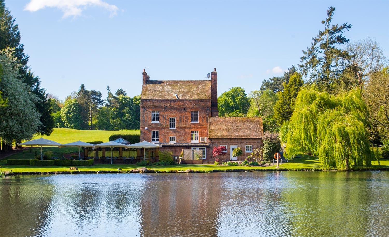 A Glimpse Of Brocket Hall From Melbourne Lodge