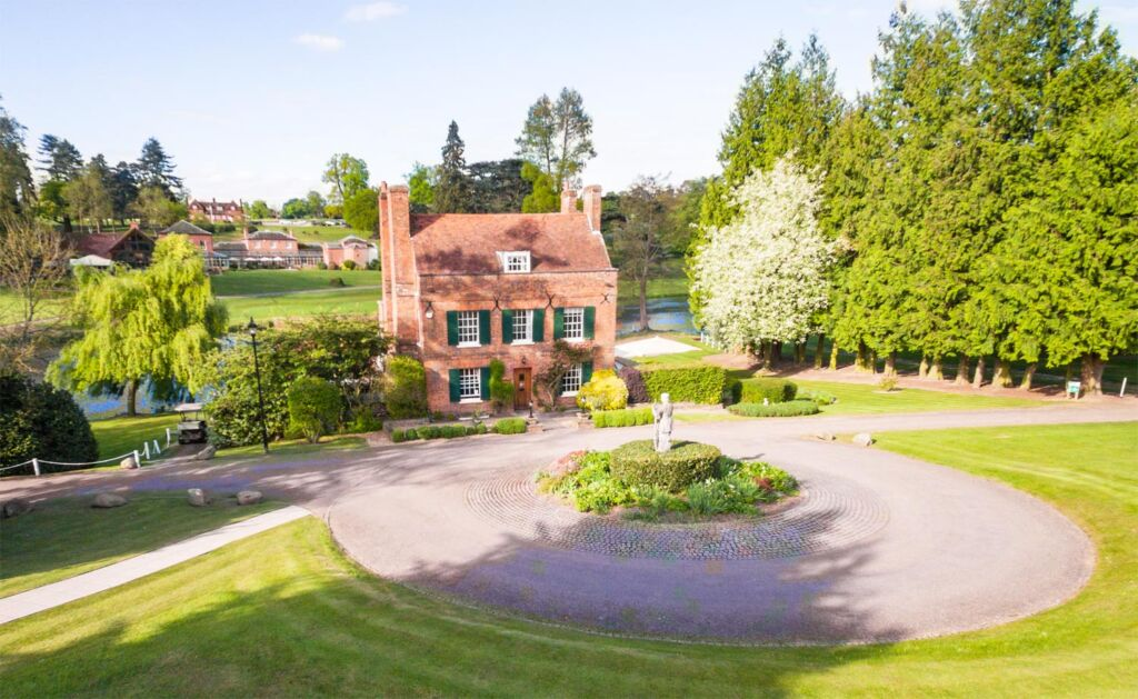 A Glimpse Of Brocket Hall From Melbourne Lodge 6
