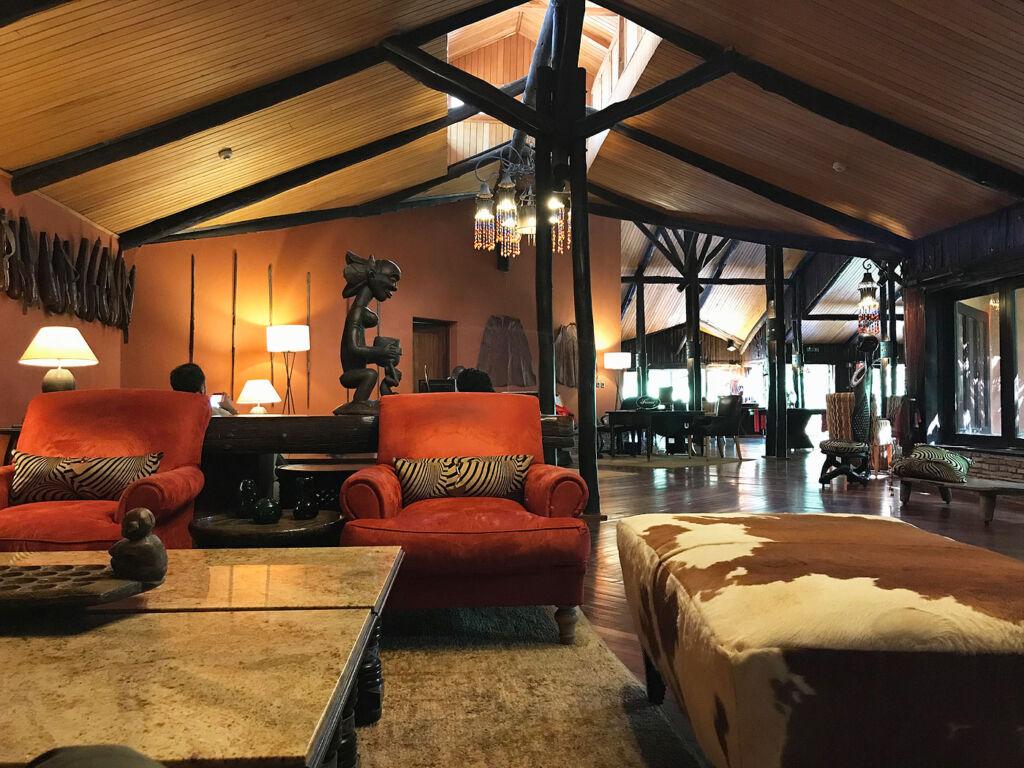 The main lodge at the Fairmont Maasai Mara Safari Club
