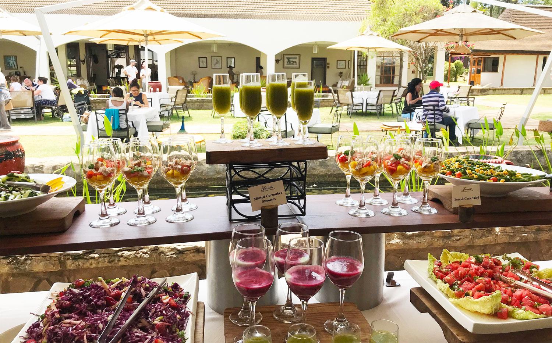 Lunch outside at the Fairmont Mount Kenya Safari Club