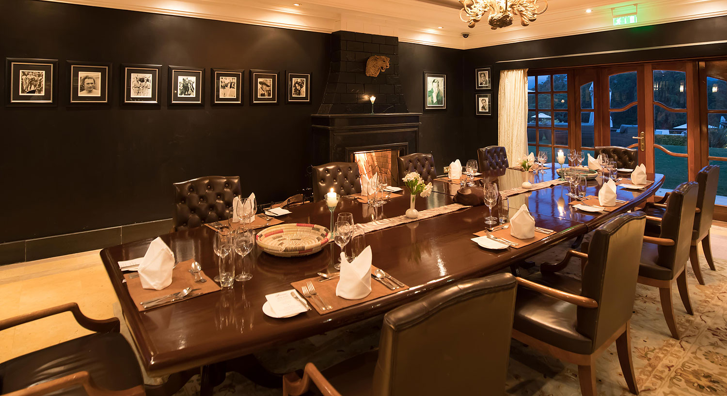Private dining room at Tusks