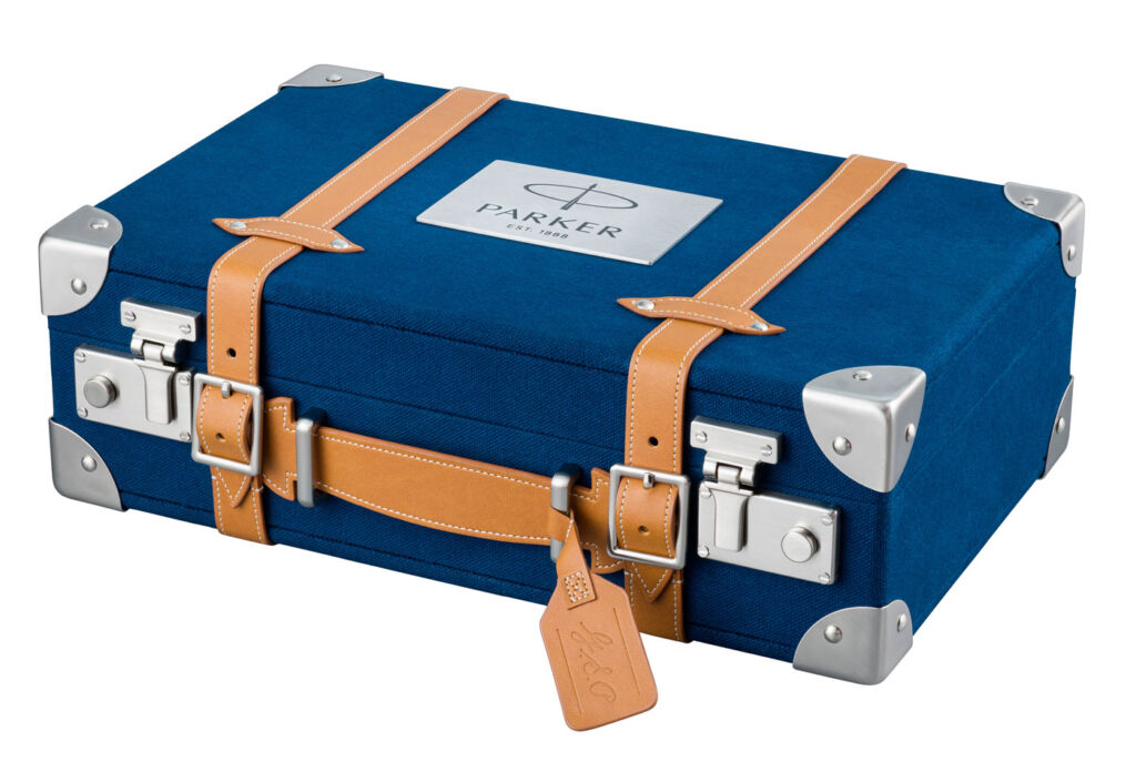 The Craft of Travelling is presented in a luxurious gift box styled after a piece of vintage luggage