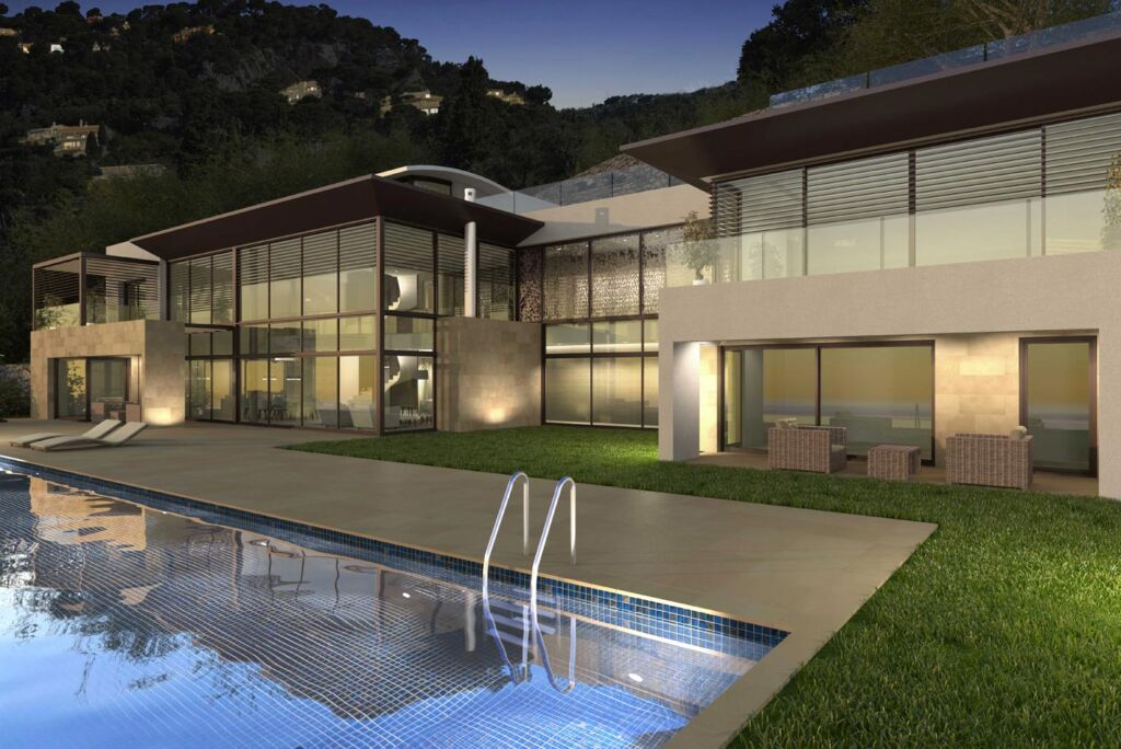 Picture of a modern luxury villa