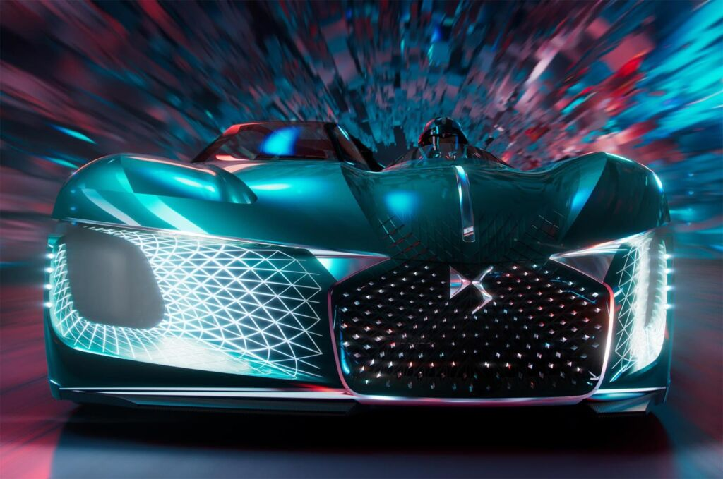 Front view of the DS X E-Tense concept