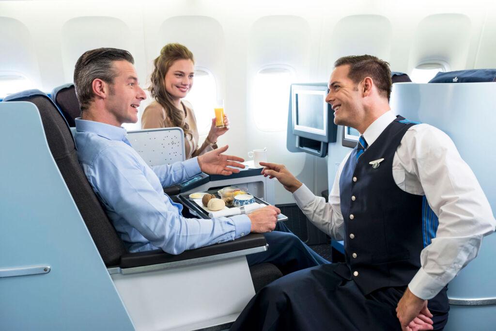 KLM Business Class Flight