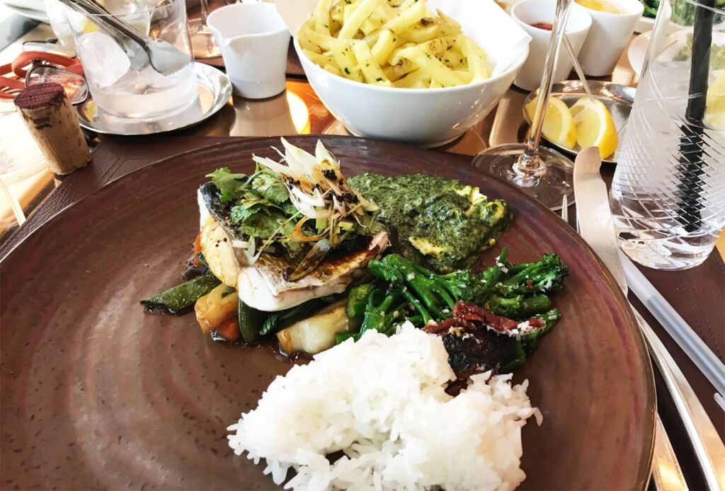My sea bass was soft, succulent and really did melt in my mouth