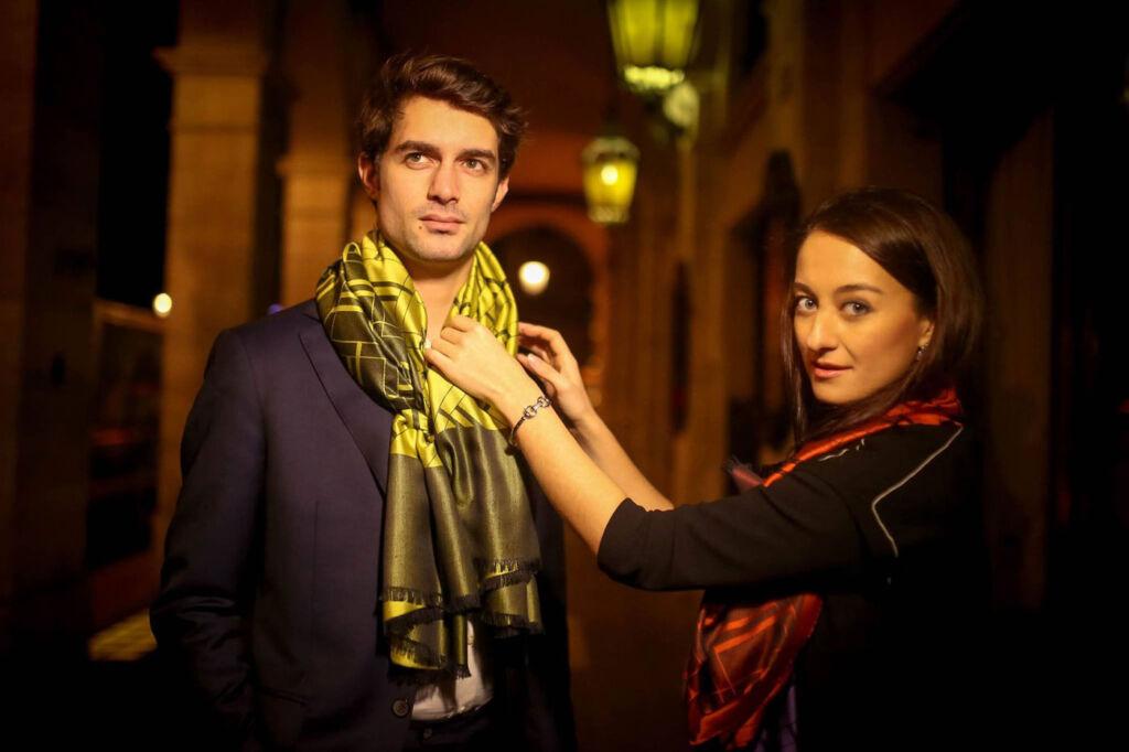 UNIO Paris luxury mens' scarves and its talented creator Leila Altamirova
