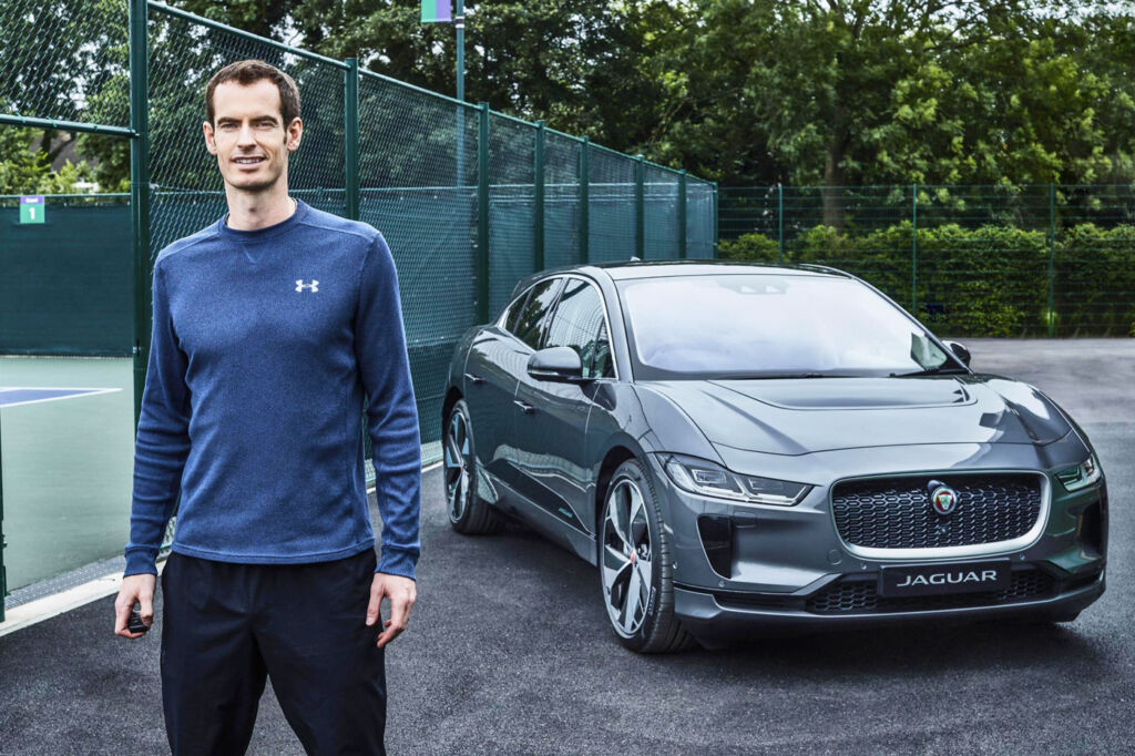 Andy Murray adds to his green credentials with the Jaguar i-Pace