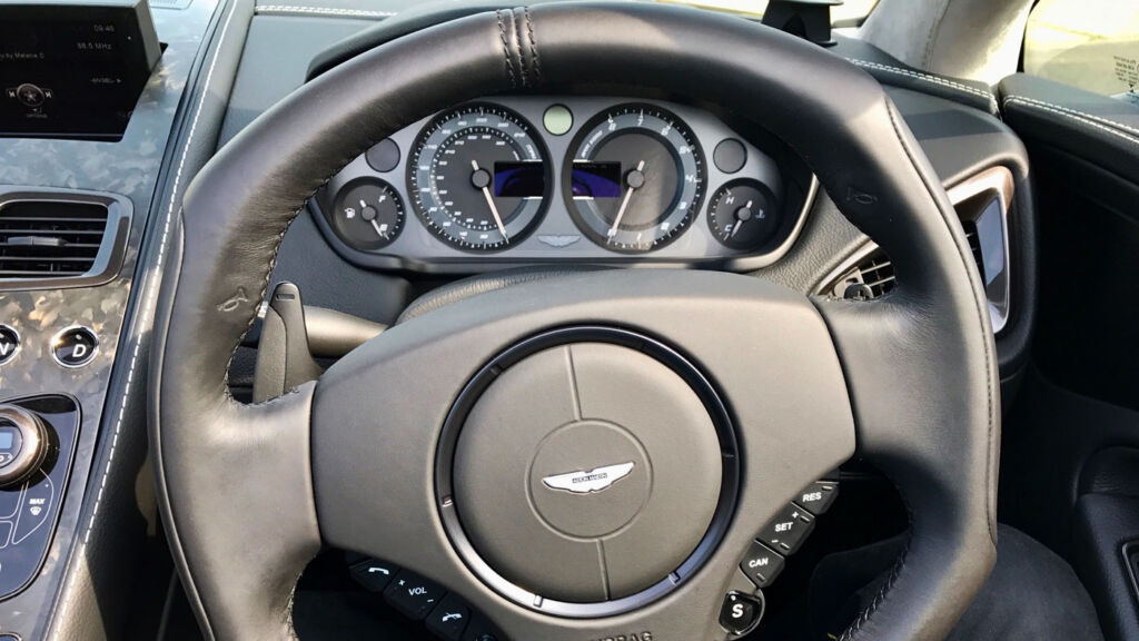 Behind the wheel of the Vanquish S