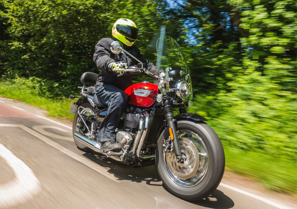 Jeremy Webb was invited on a road trip to Goodwood motor circuit, riding the new Bobber Black and Speedmaster by the totally British firm, Triumph.