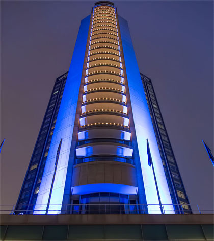 Exterior of the London Hilton on Park Lane