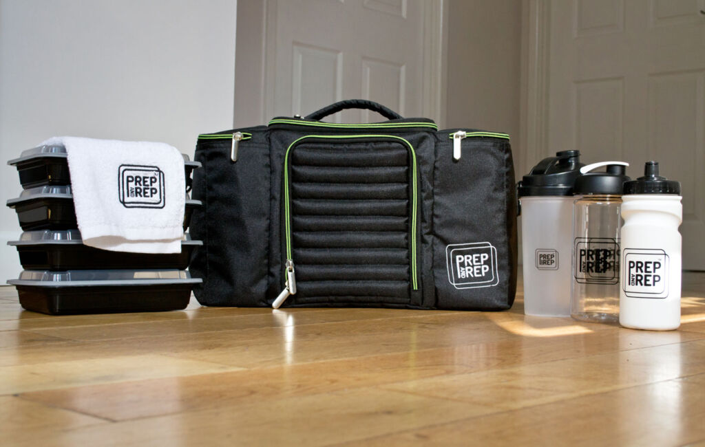 The bag comes with a selection of dishwasher-safe containers and bottles