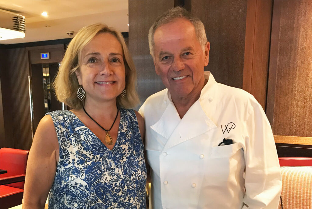 Gina Baksa and Chef Wolfgang Puck