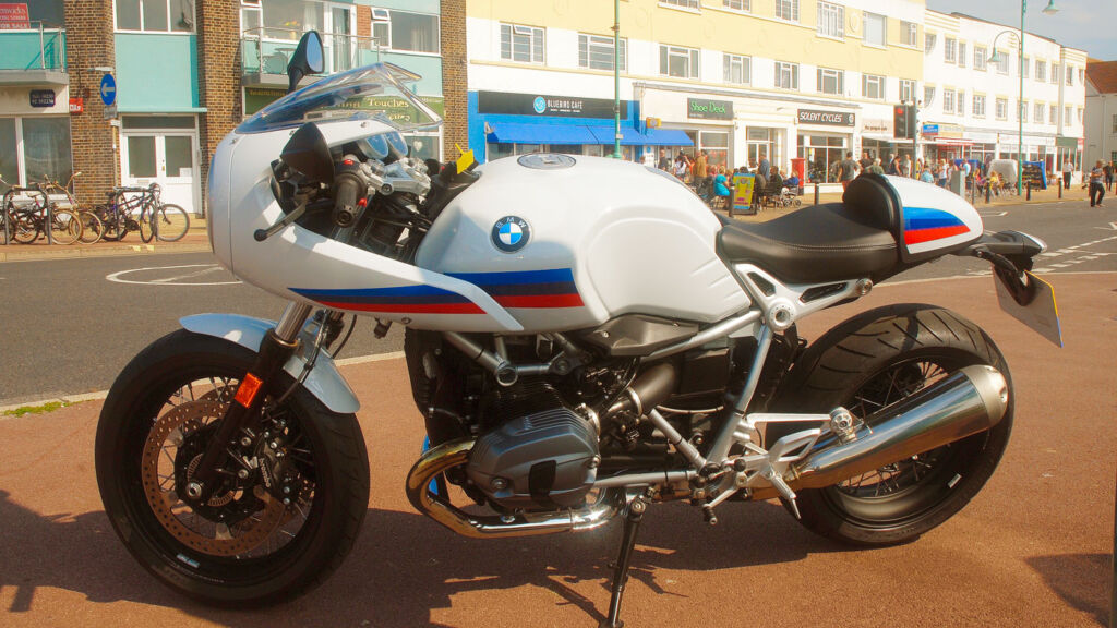Experiencing the thrills of the BMW Nine T Racer S on a trip along the South coast.