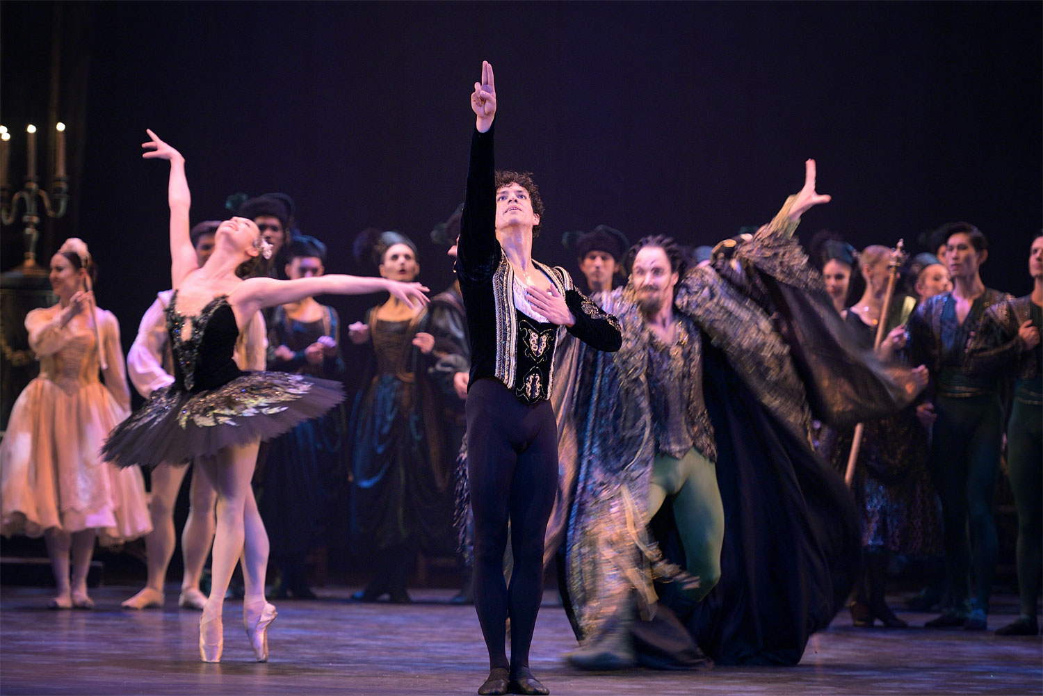 Issac Hernandez in Swan Lake London
