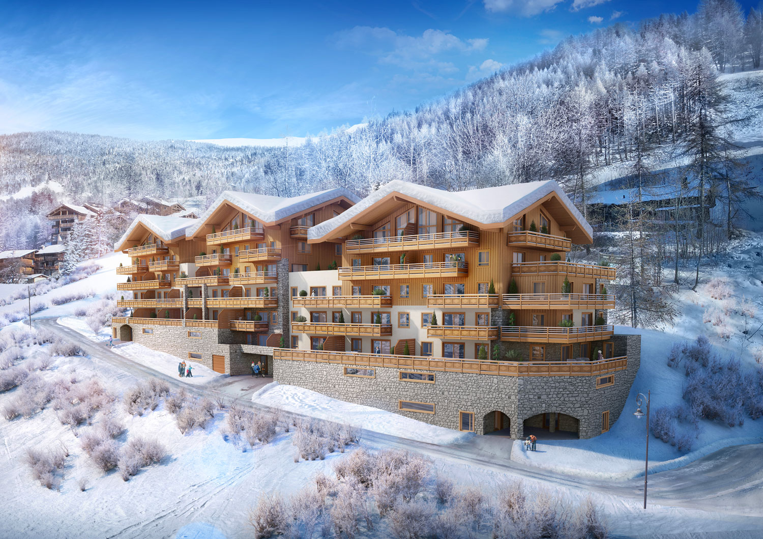 Les Fermes d'Eugenie - A New Ski-In Development In Sainte-Foy Tarentaise