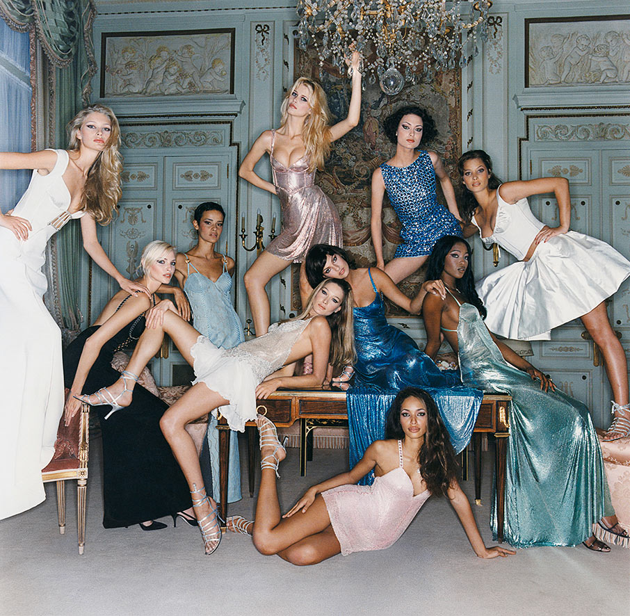 © Michel Comte- Supermodels 1994 pour Versace- Vogue