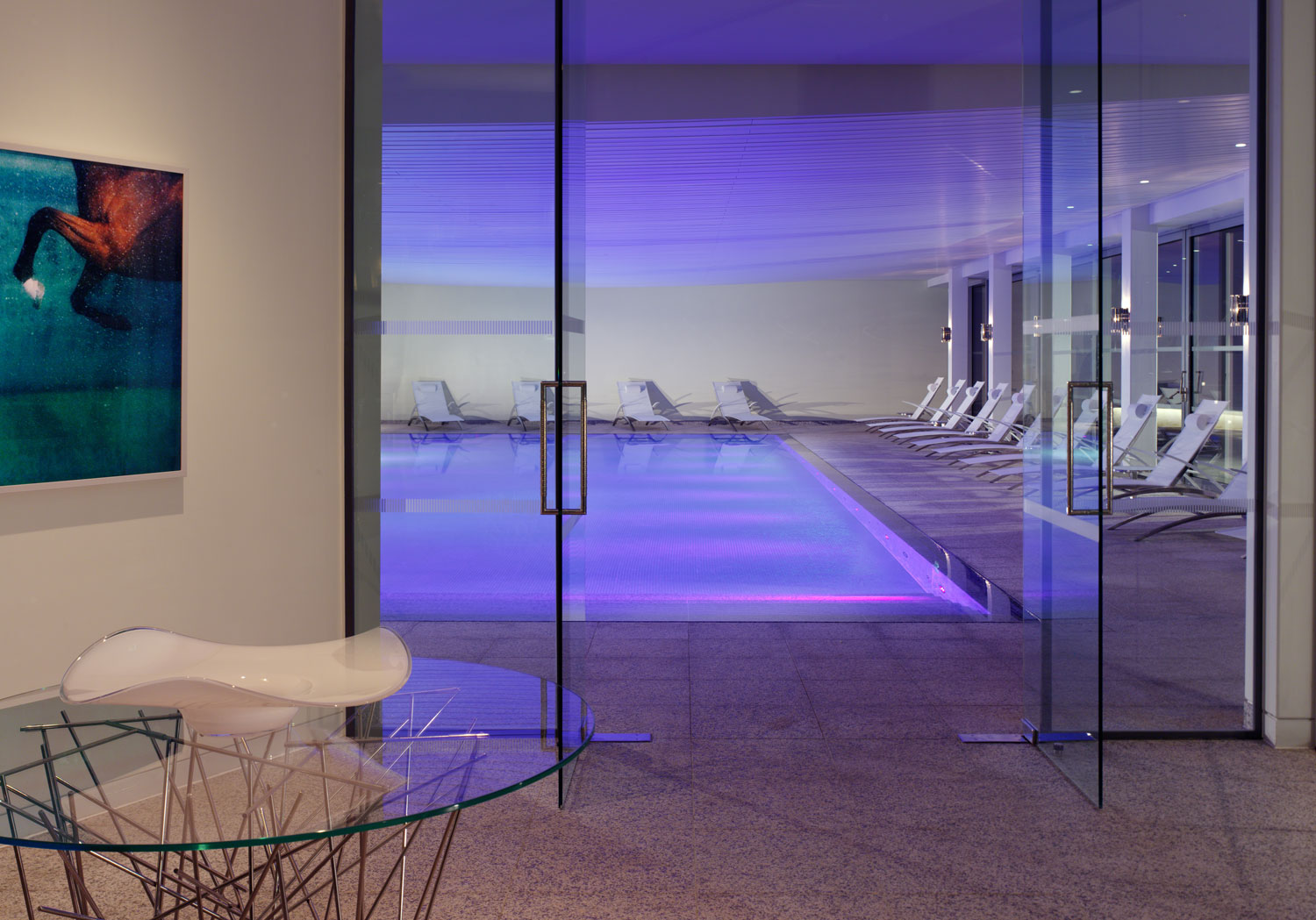 The swimming pool at the Coworth Park Spa