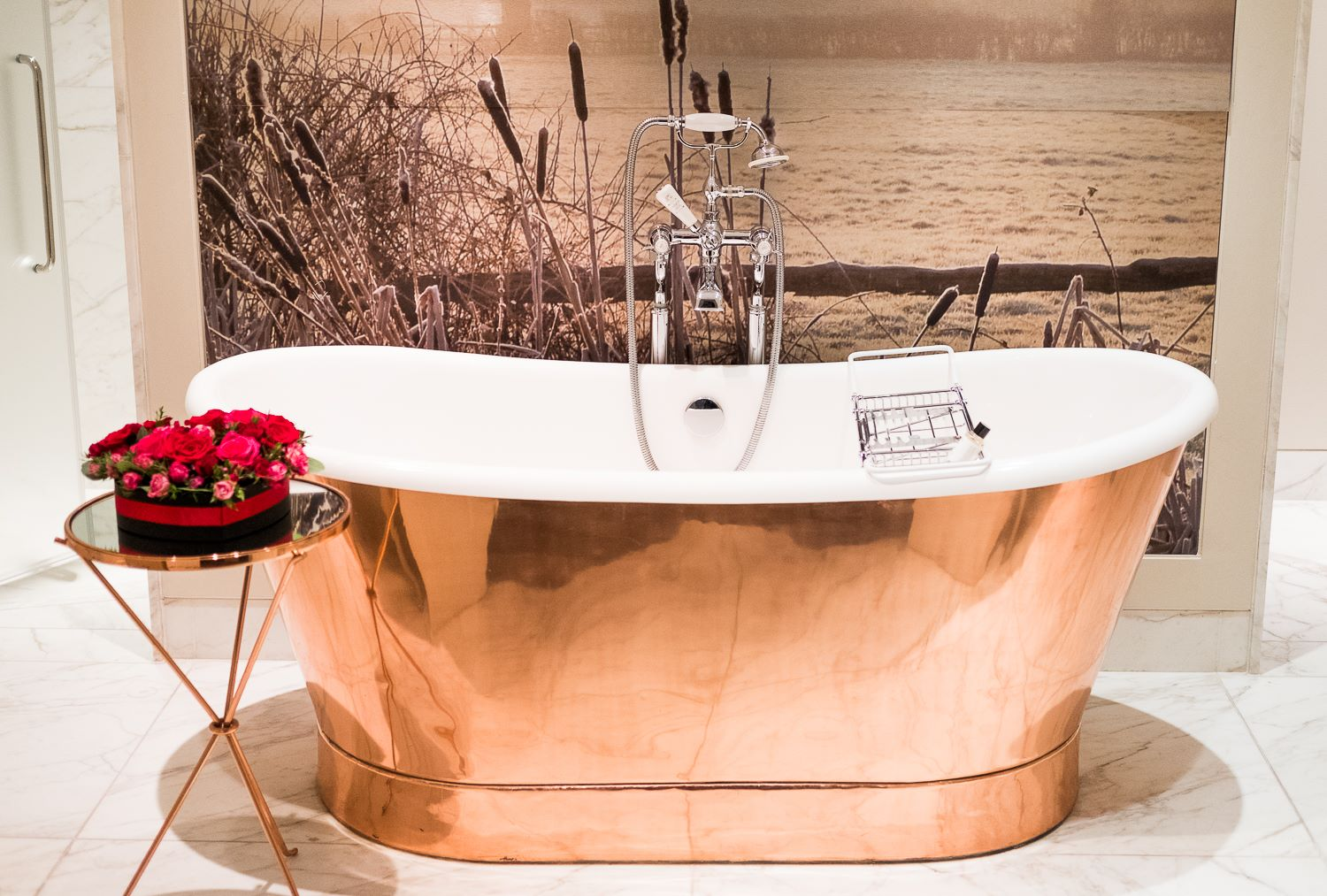 Copper bath in one of the suites at Coworth Park