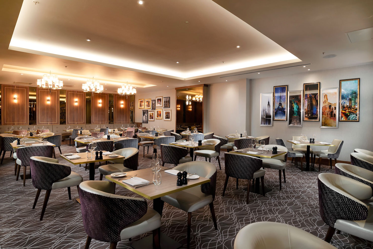 Urban Brasserie restaurant at Crowne Plaza, Heathrow T4
