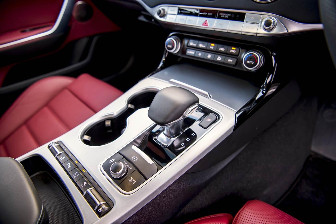 KIA Stinger 2.0 T-GDi GT-Line S gearbox drive modes