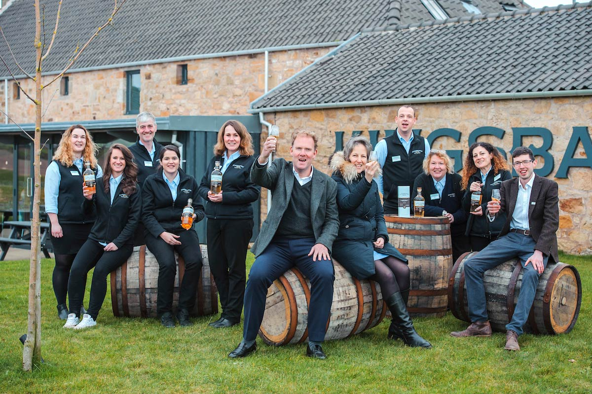 Peter, William Wemyss and the team at Kingsbarns Distillery.