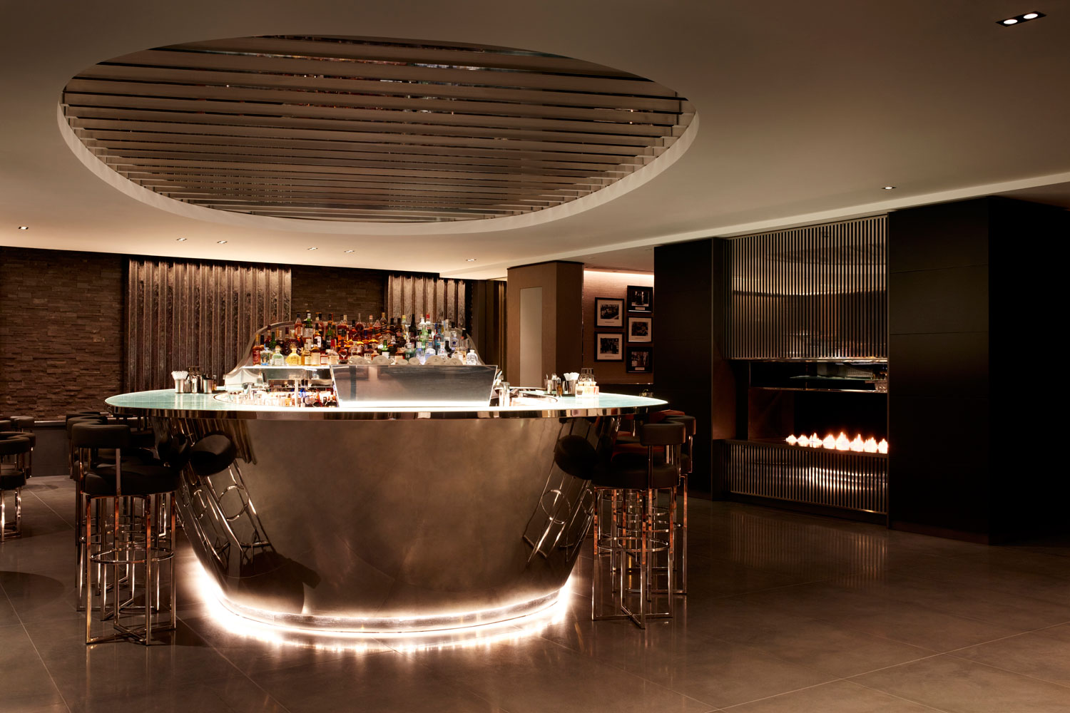 The Bar at POTUS restaurant Crowne Plaza London