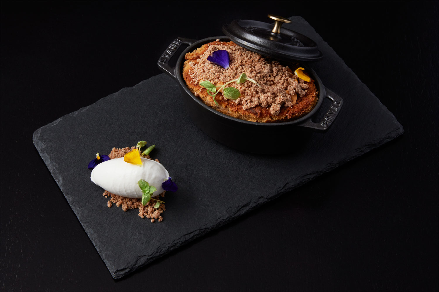 One of the dishes at POTUS restaurant Crowne Plaza London