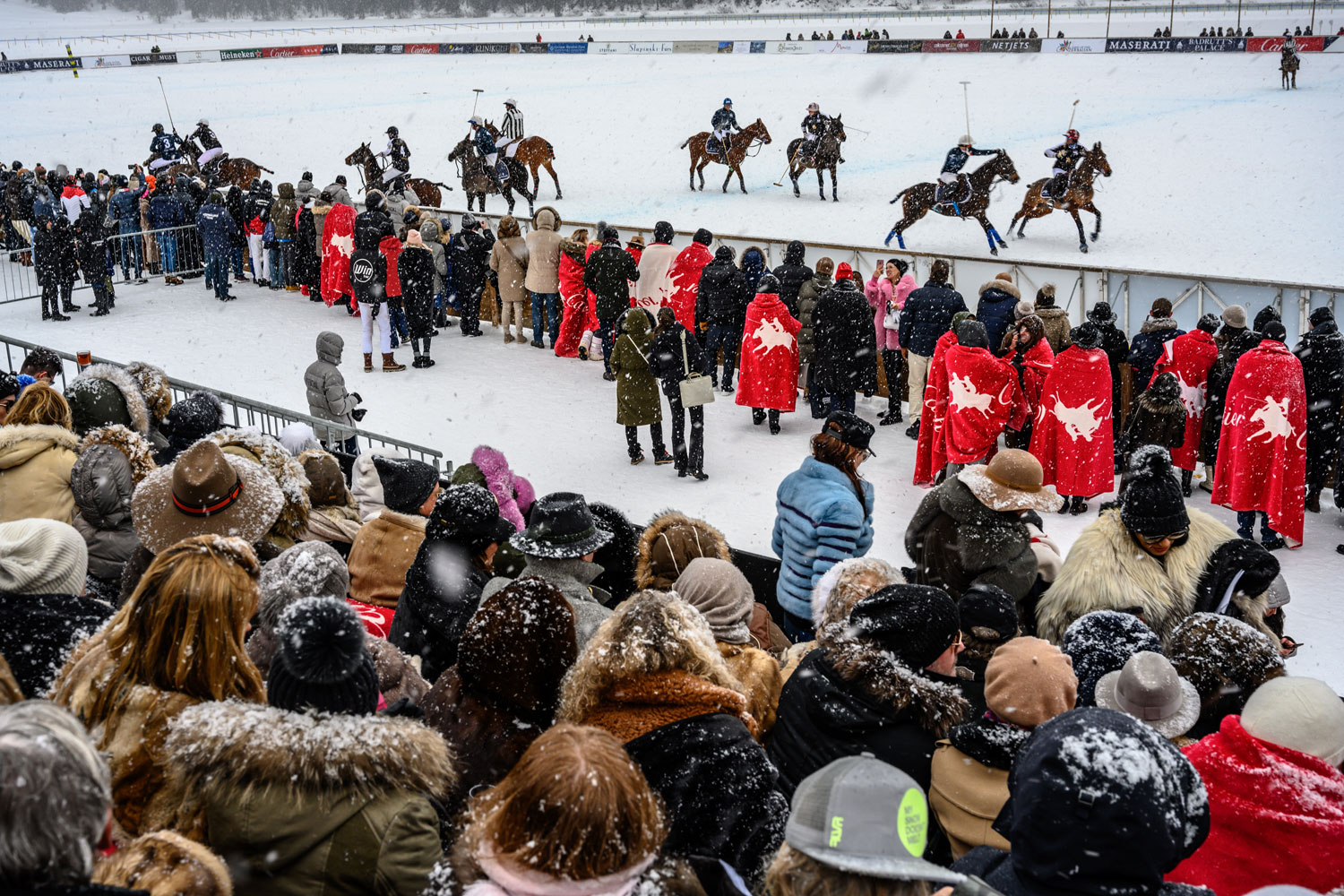 The 35th Snow Polo World Cup played host to a record number of spectators