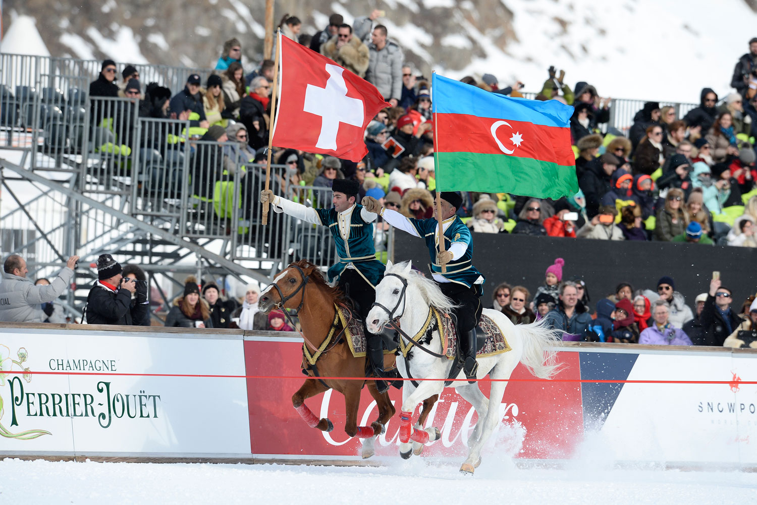 The Sardadchi cavalry team at the 35th Snow Polo World Cup