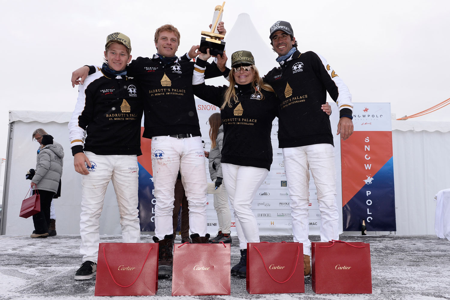 Melissa Ganzi at the 35th Snow Polo World Cup