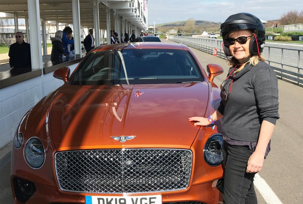Gina Baksa has the Ride of Her Life Around The Track at Goodwood Motor Circuit 4