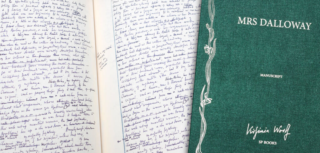 Luxury Editions of Virginia Woolf's Handwritten Manuscript of Mrs Dalloway 4