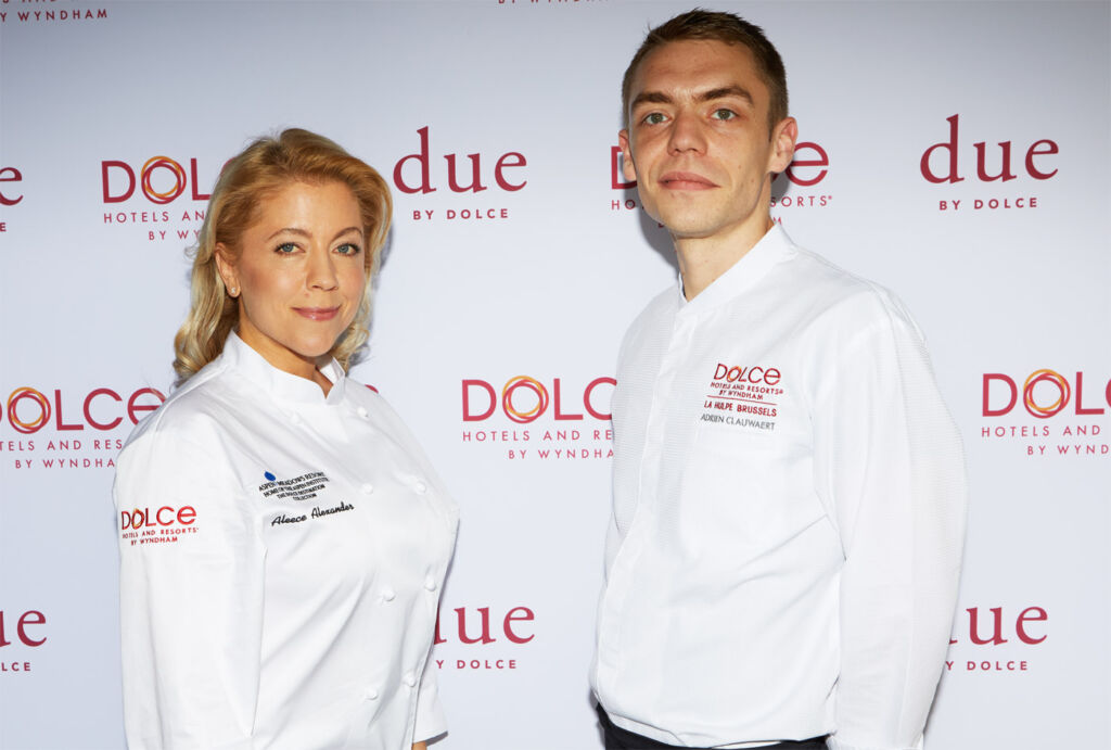 Dolce by Wyndham chefs Aleece Alexander and Adrien Clauwaert.