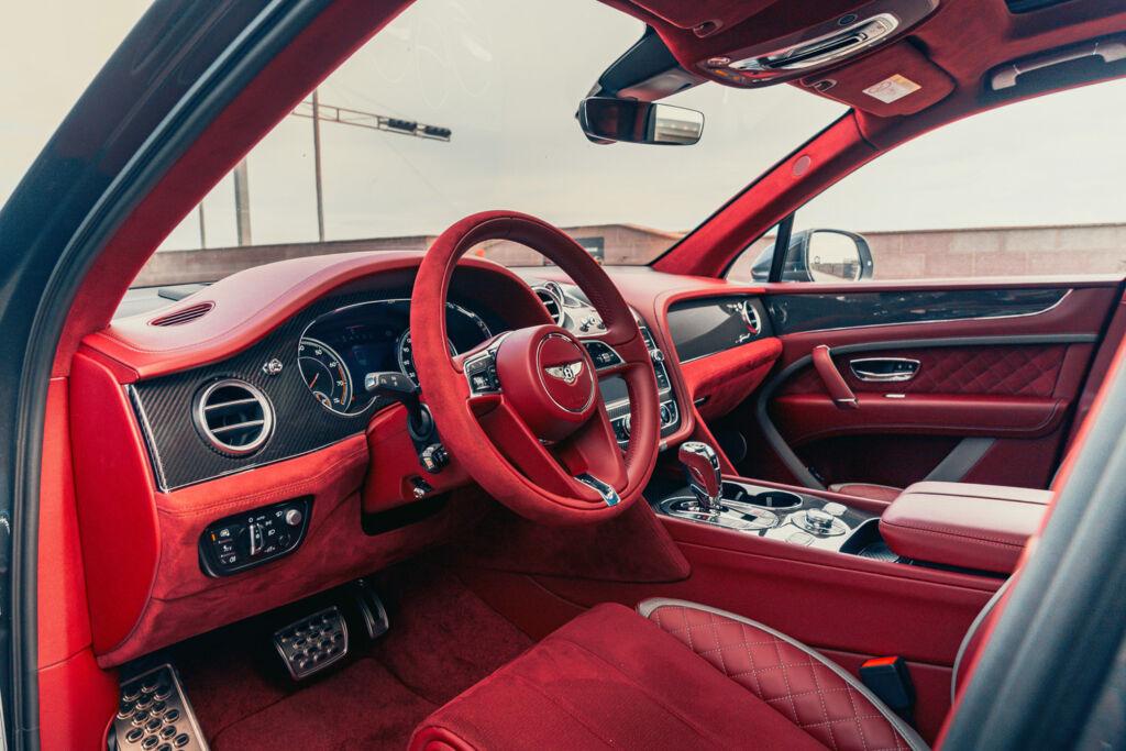 Inside the Bentley Bentayga Speed.