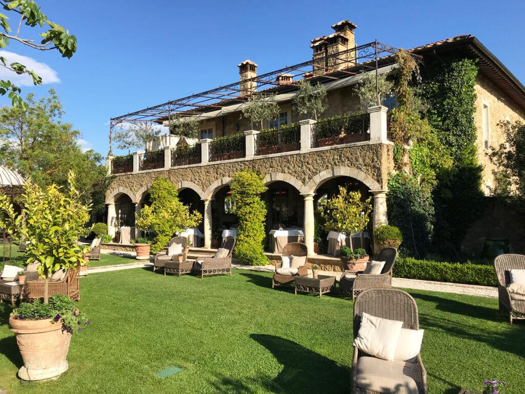 Rear of the main house at Borgo Santo Pietro.