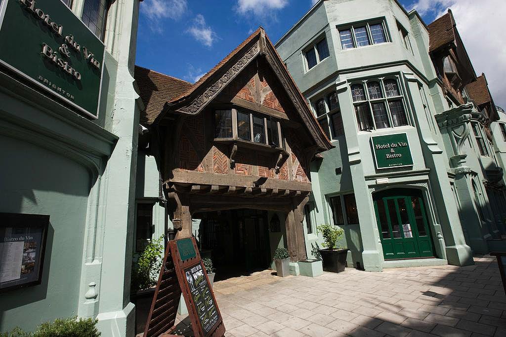 The entrance to Hotel Du Vin, Brighton
