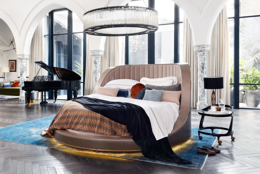 "the world's ""most luxurious bed"" the THREE SIXTY"