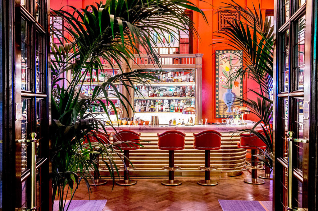 The Coral Room Cocktail Bar at the Bloomsbury London