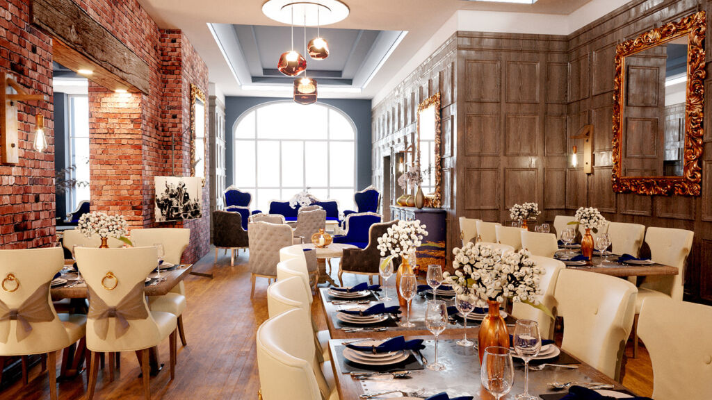 The No 9 restaurant at The Dixie Dean Hotel