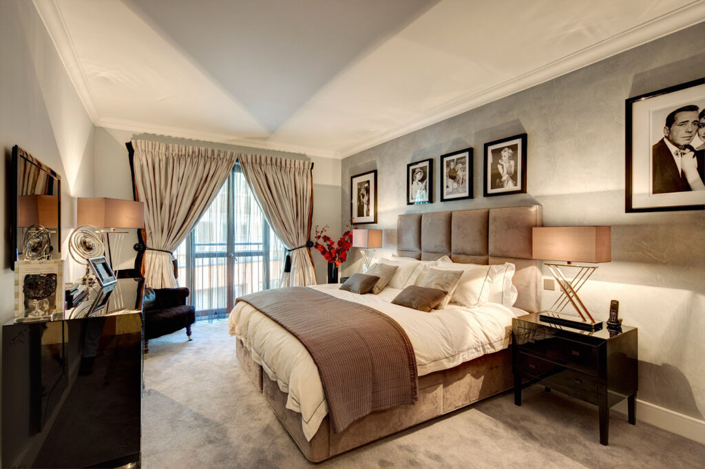 Bedroom 2 at Lancelot Place, Knightsbridge.