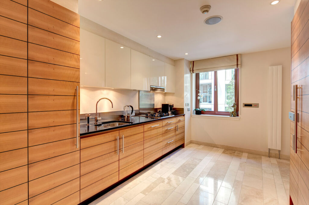 Kitchen at Lancelot Place, Knightsbridge.