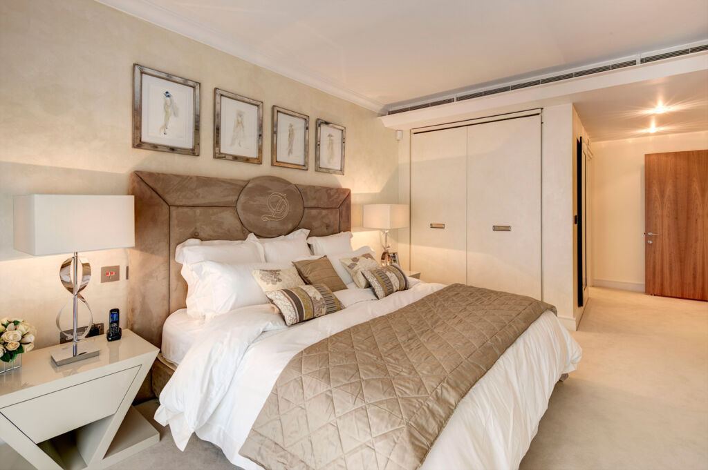 Bedroom 1 at Lancelot Place, Knightsbridge.