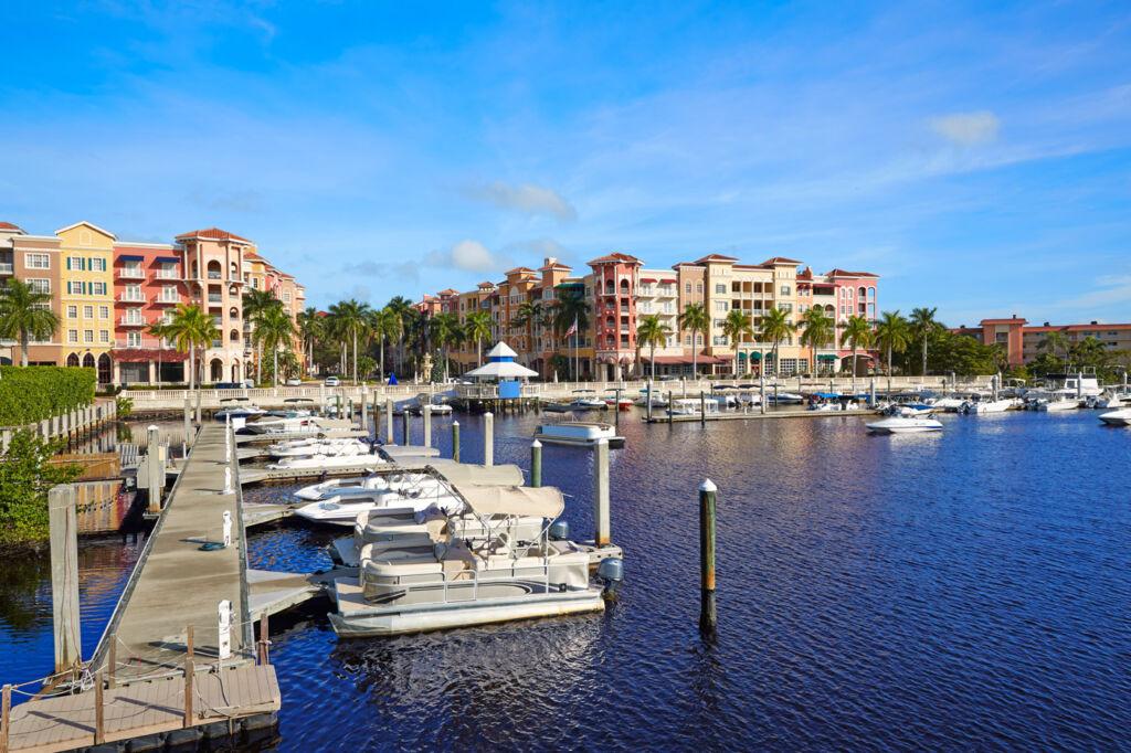 Naples Bay Marina in Florida.