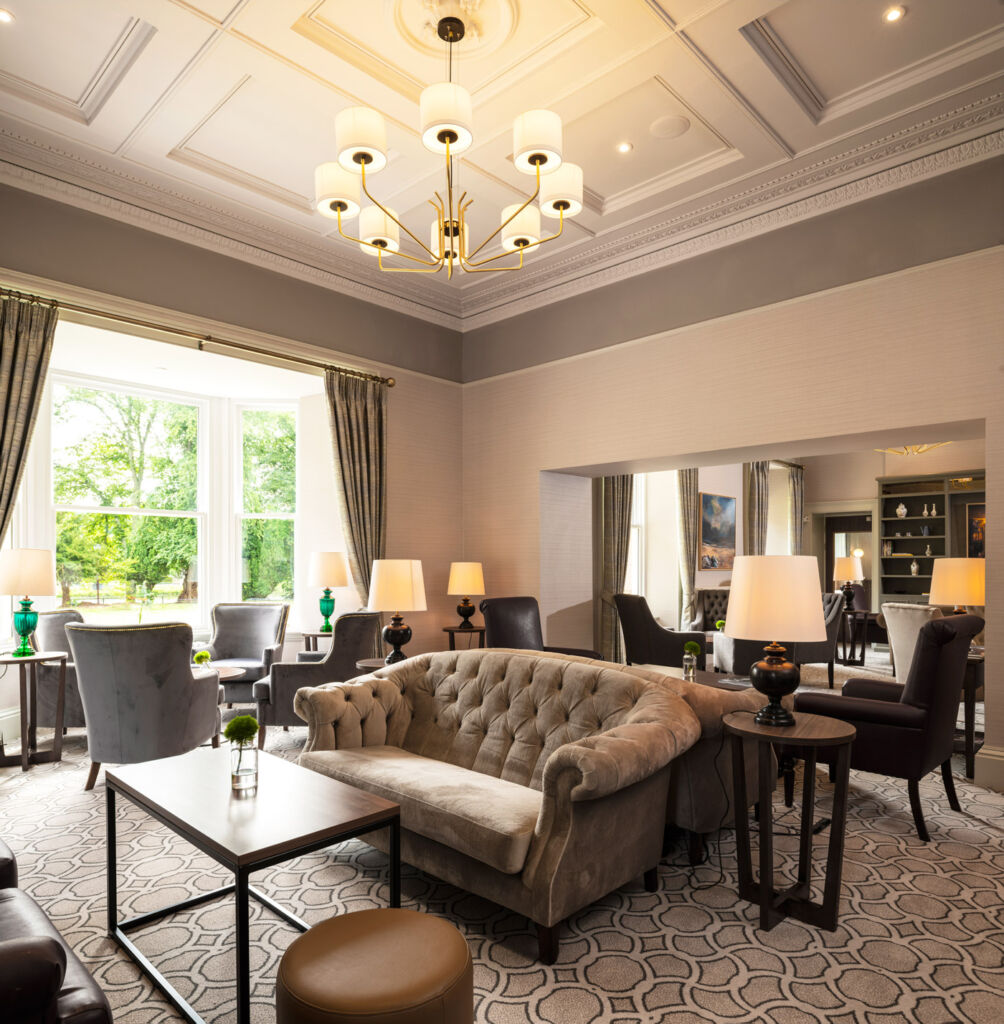 The lounge in the Ness Walk Hotel.