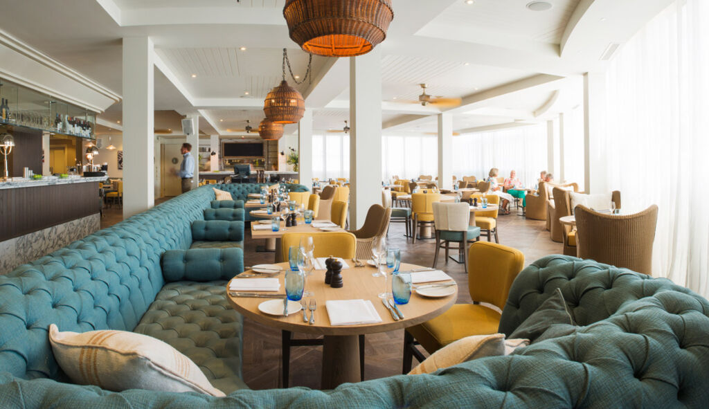 The Jetty Restaurant at the Salcombe Harbour Hotel.