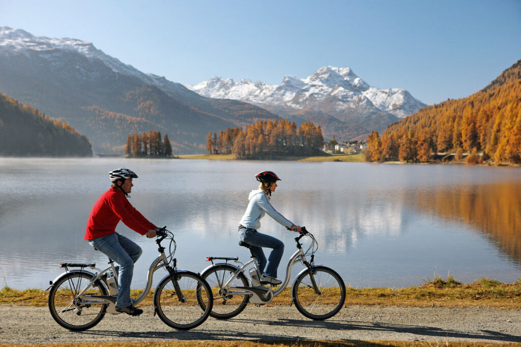 Cycling is an ideal way to see Switzerland's natural beauty.
