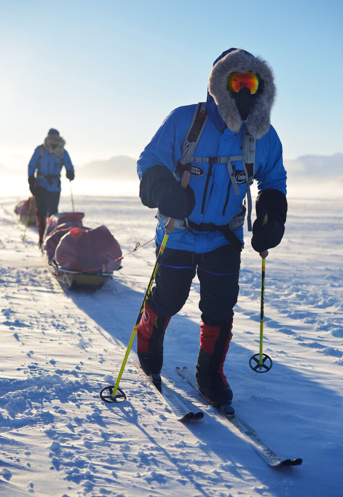 "Ben Saunders attempting a polar expedition; ""I'd probably try to put them off!"""